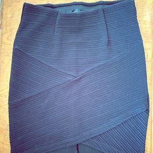 Dynamite - Asymmetrical Bodycon Skirt - XS black